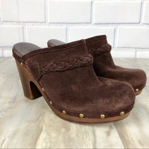 UGG Australia Brown Suede Mules Size 7